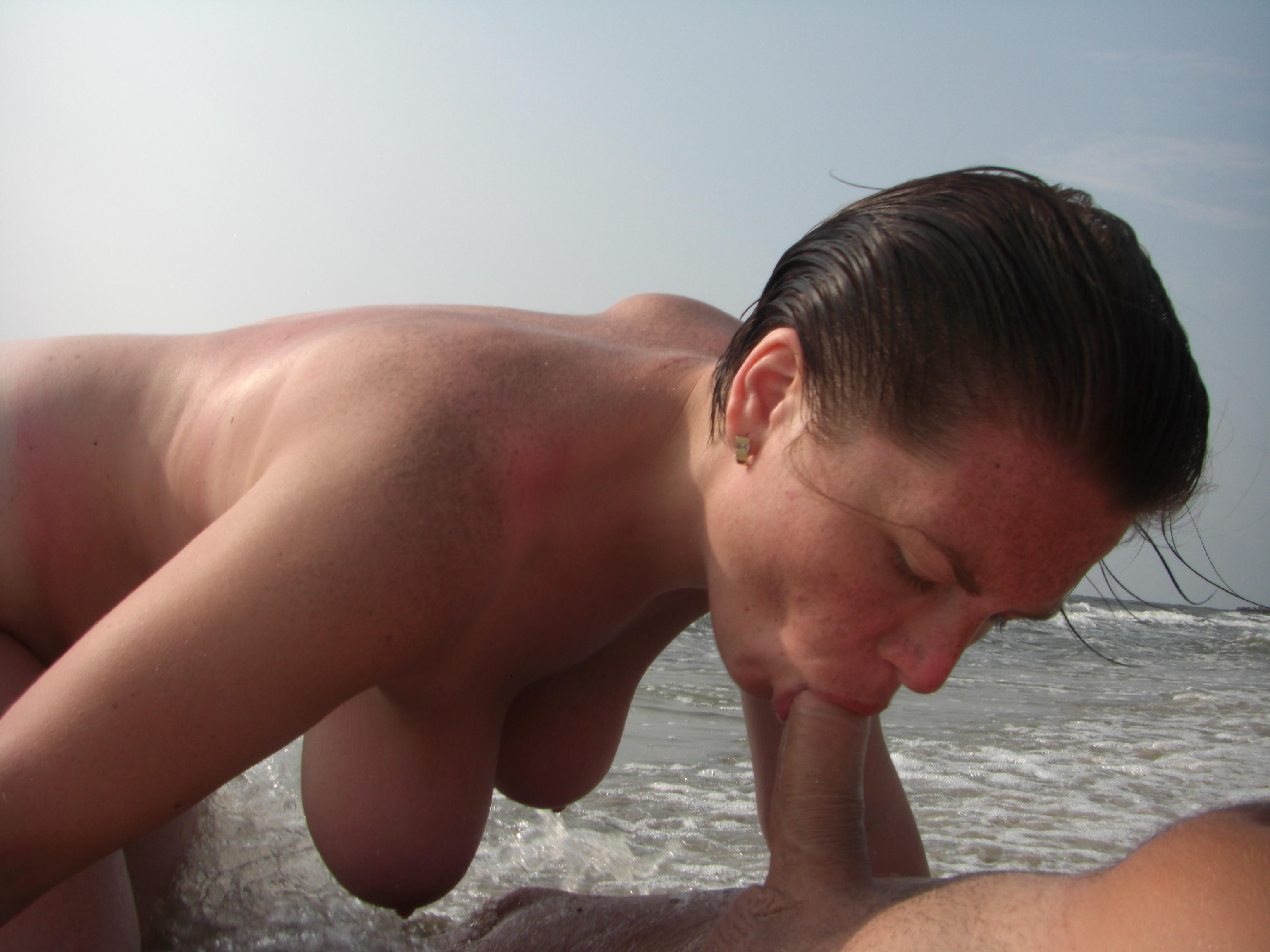 Nude Beach Handjob