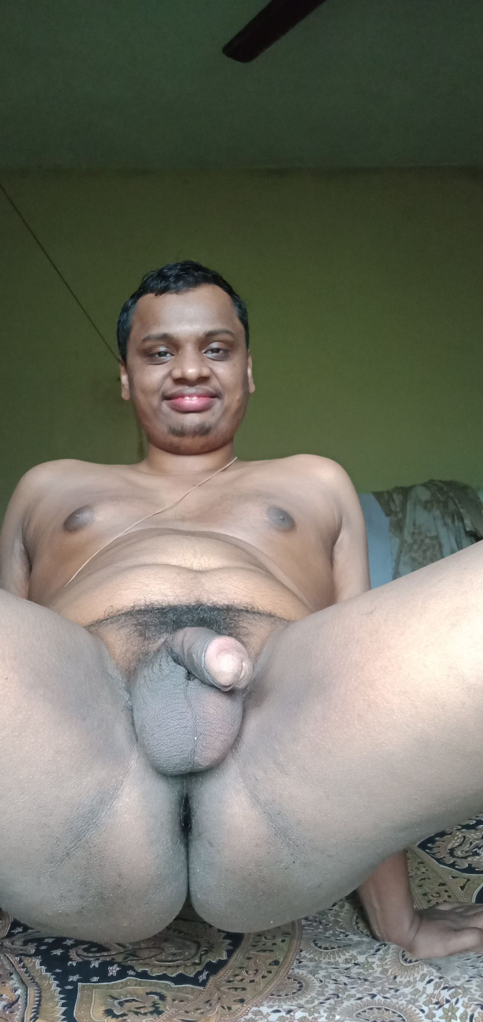 Indian boy Chandresha's round cock ball